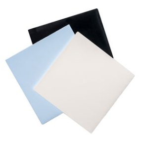 White, blue and black sheets made of dielectric PREPERM material