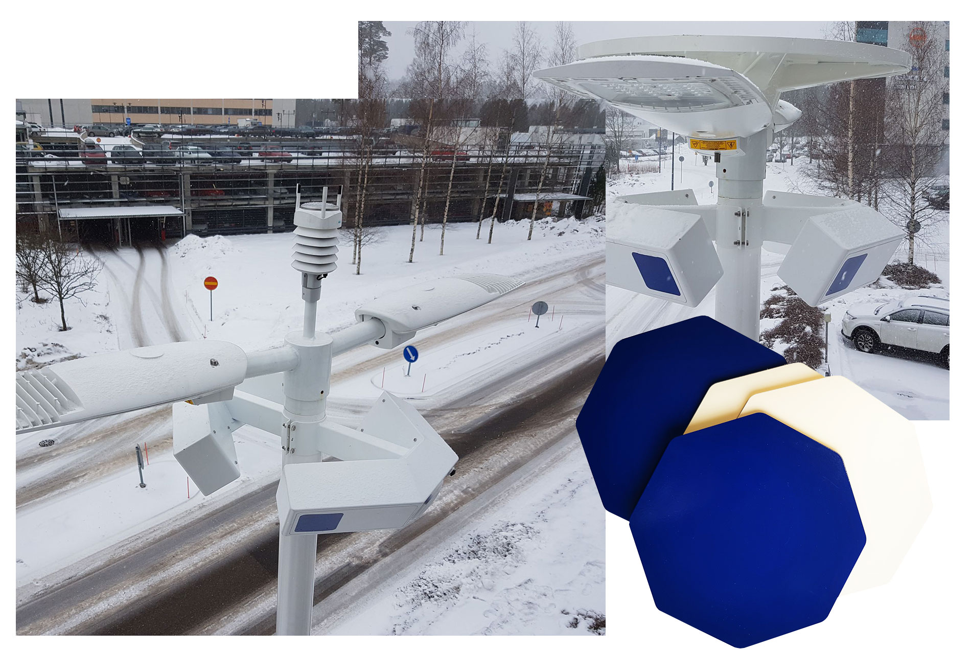 We are involved in the Nokia Bell Labs driven LuxTurrim5G project developing and demonstrating fast 5G network based on smart light poles with integrated antennas, base stations, sensors, screens and other devices.