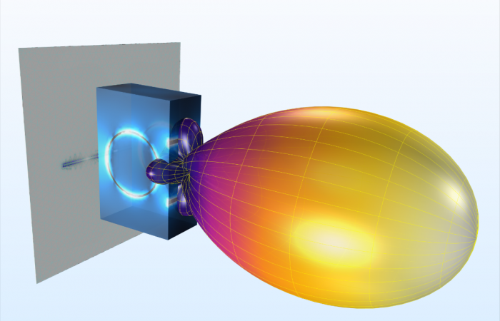 Simulating an antenna with COMSOL software