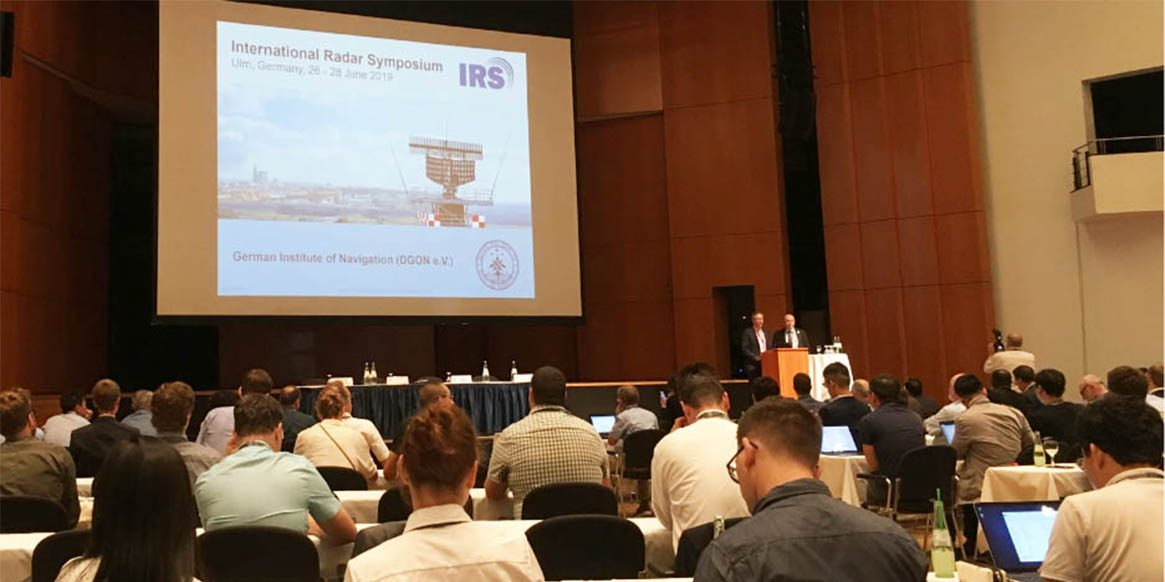Pic of a conference in International Radar Symposium in Ulm, 2019